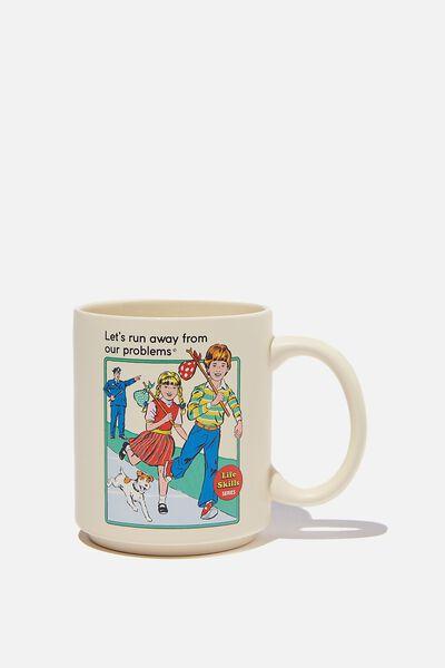 Steven Rhodes X Typo Mug, LCN STE LET S RUN AWAY