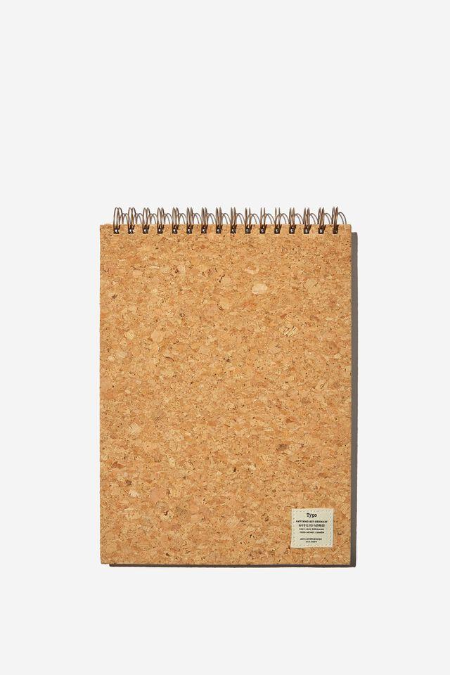 A4 Spiral Sketch Book, NATURAL CORK