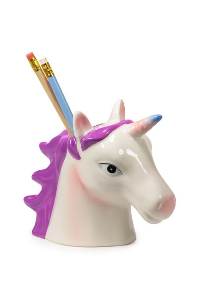 Pen Holder, PINK UNICORN HEAD