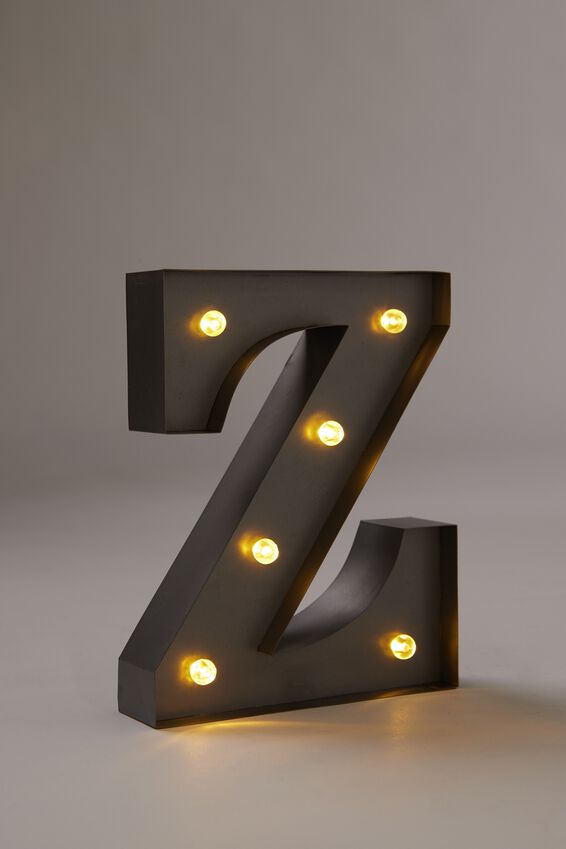 "Midi Marquee Letter Lights 6.3"", SILVER Z"