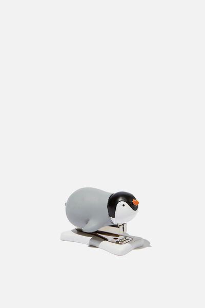 Shaped Mini Stapler, PENGUIN