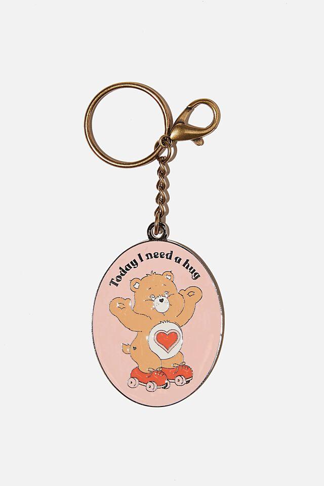 Care Bears Enamel Keyring, LCN CLC CARE BEARS TODAY I NEED A HUG