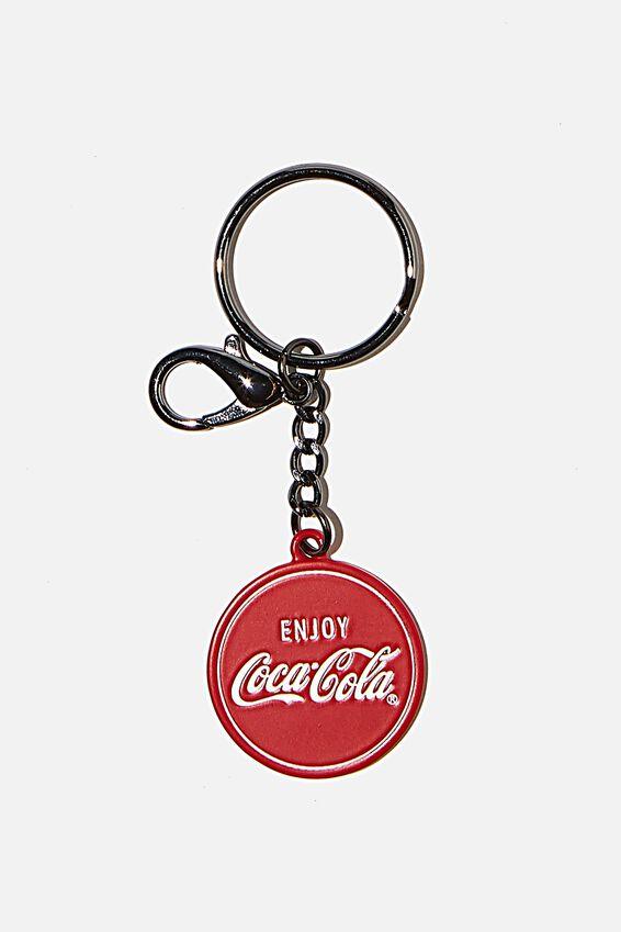 Coca Cola Enamel Keyring, LCN COK COKE