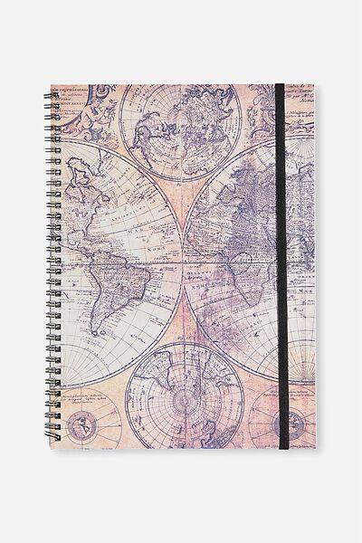 Large Spinout Notebook Usa 11X8, WORLD MAP