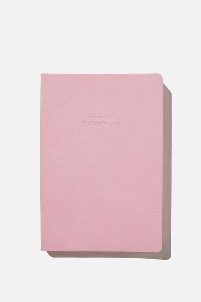 2021 Soft A5 Daily Buffalo Diary, PLASTIC PINK