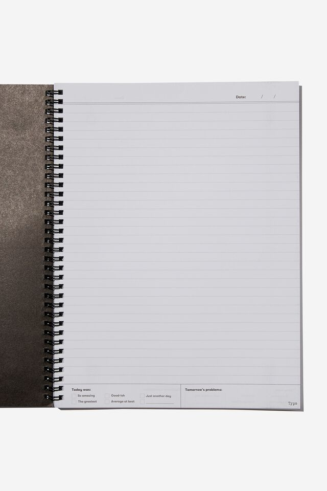 A4 Smiley Spinout Notebook Recycled, LCN SMI SMILEY POSITIVE STATE OF MIND WARPED