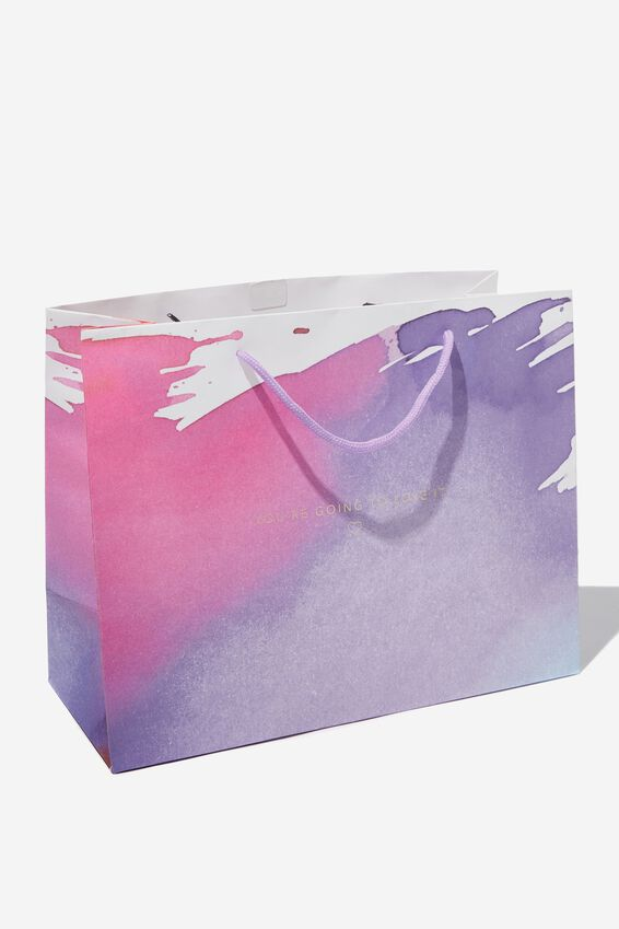 Stuff It Gift Bag - Medium, LOVE IT PURPLE STROKES