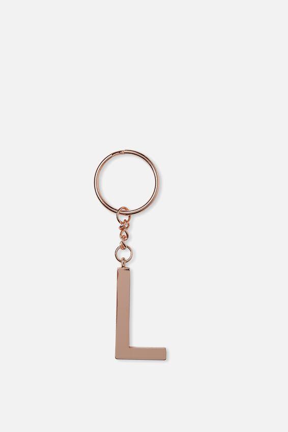 Alphabet Keyring, ROSE GOLD L