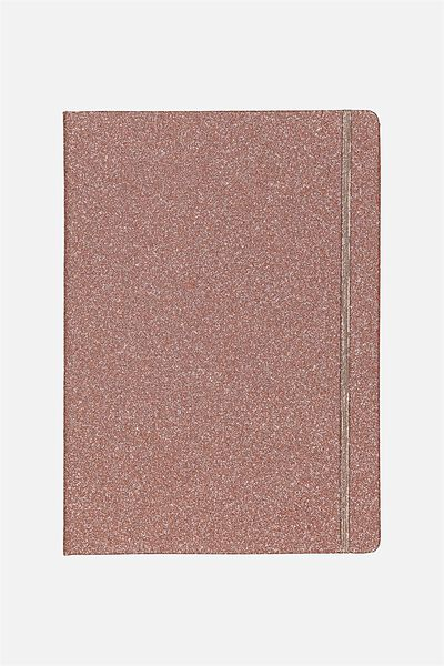 Large Buffalo Journal, ROSE GOLD GLITTER