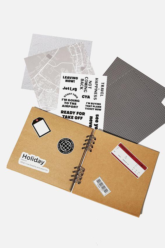 Diy Album Kit 8X8, GUMLEAF MEADOW DITSY TRAVEL