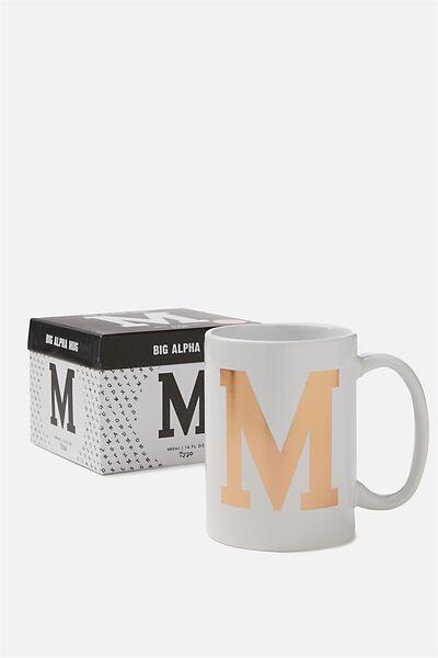 Big Alphabet Mug, ROSE GOLD M