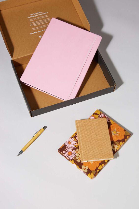 Premium Notebook Gift Set, TAN MUSTARD