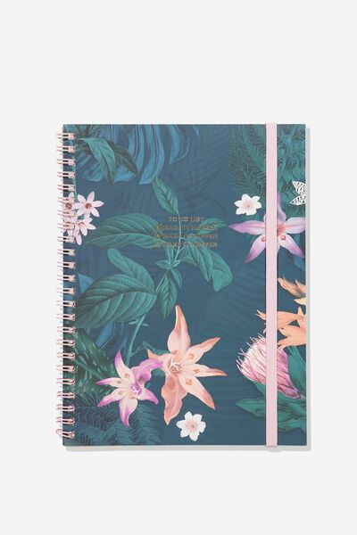 A5 Spinout Notebook - 120 Pages, TO DO LIST JUNGLE FLORAL