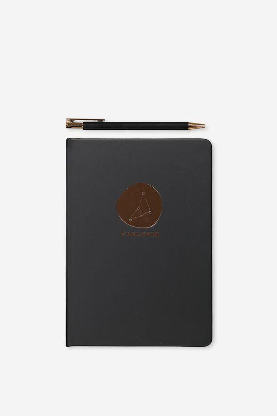 Notebook And Pen Set, ZODIAC CAPRICORN