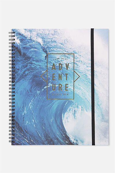 College Ruled Spinout Notebook V, ADVENTURE WAVE