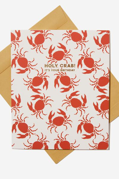 Funny Birthday Card, HOLY CRAB