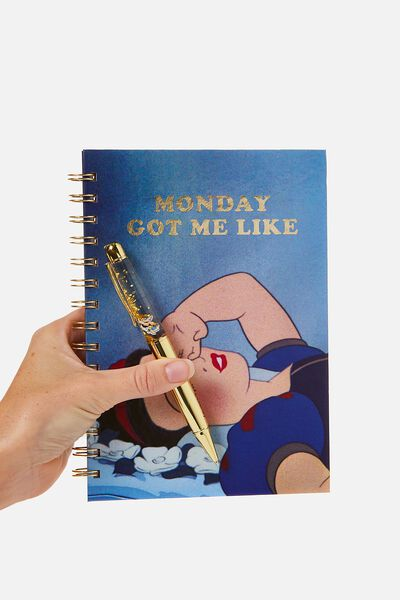 A5 Printed Spiral Notebook, LCN SNOW WHITE MONDAYS