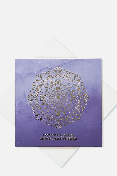 2018 Mini Christmas Card, MANDALA LOTS OF LOVE