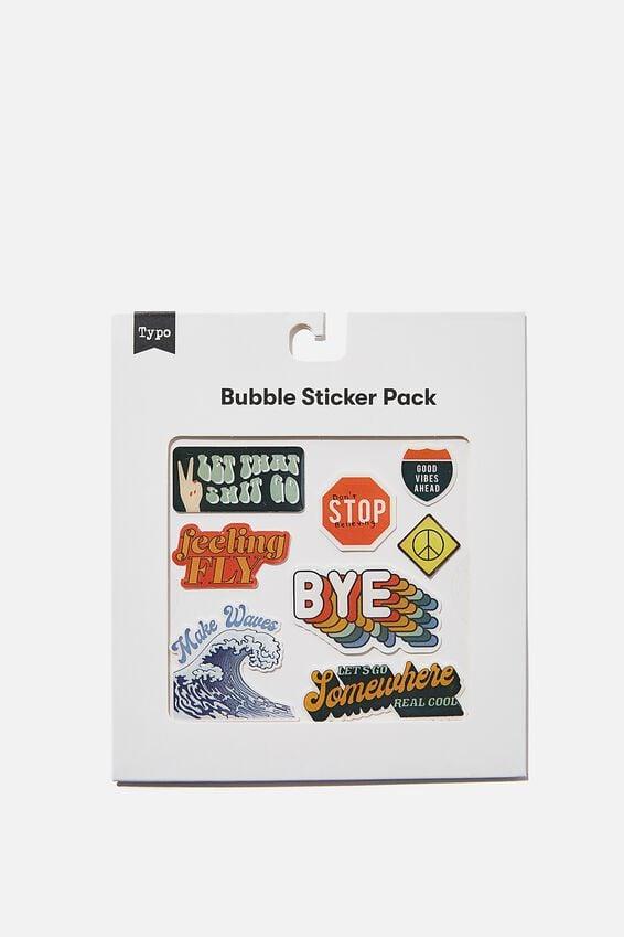 Bubble Sticker Pack, FEELING FLY