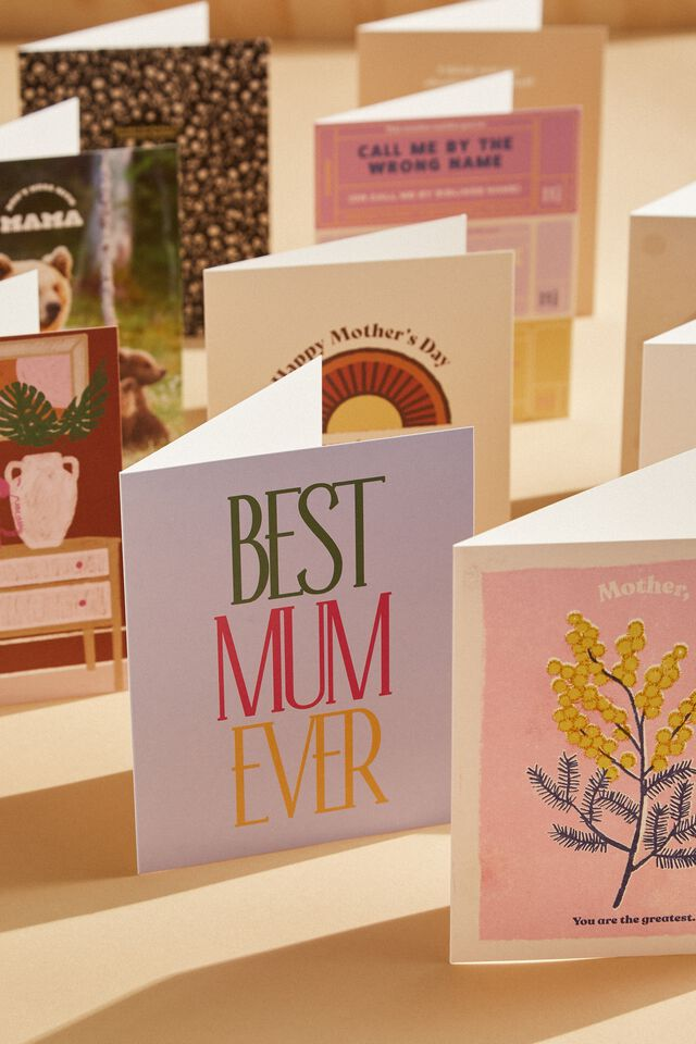Mothers Day Card 2021, BEST MUM EVER LILAC