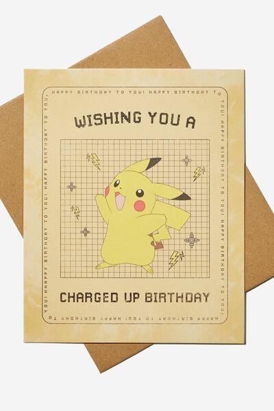 Nice Birthday Card, LCN POK POKEMON PIKACHU