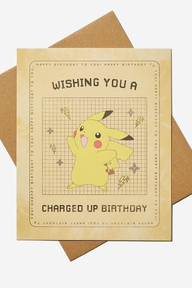 Pokemon Nice Birthday Card, LCN POK POKEMON PIKACHU