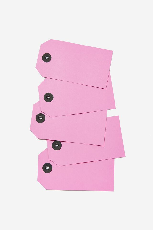 Gift Tag 5 Pack, HOT PINK
