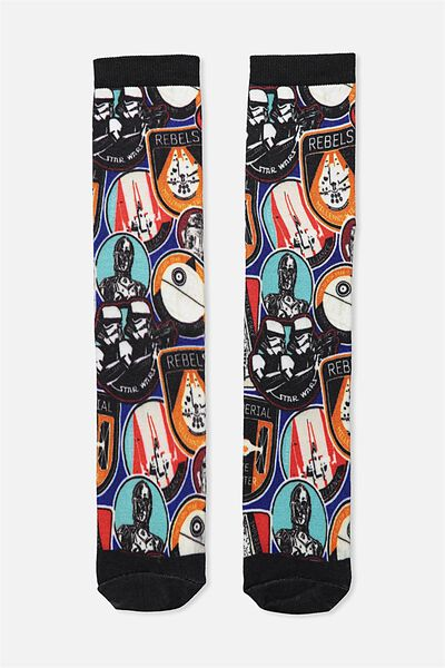 Mens Novelty Socks, LCN STAR WARS COLLAGE