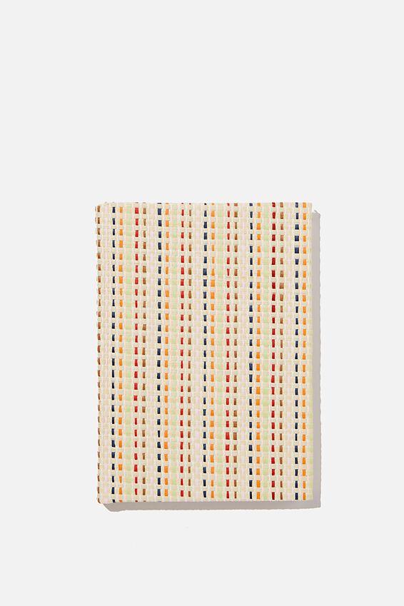 A6 Oxford Notebook, MULTI RATTAN