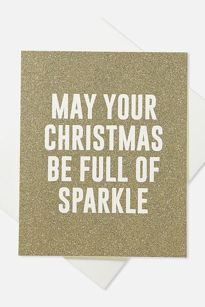 2018 Christmas Card, GLITTER FULL OF SPARKLE