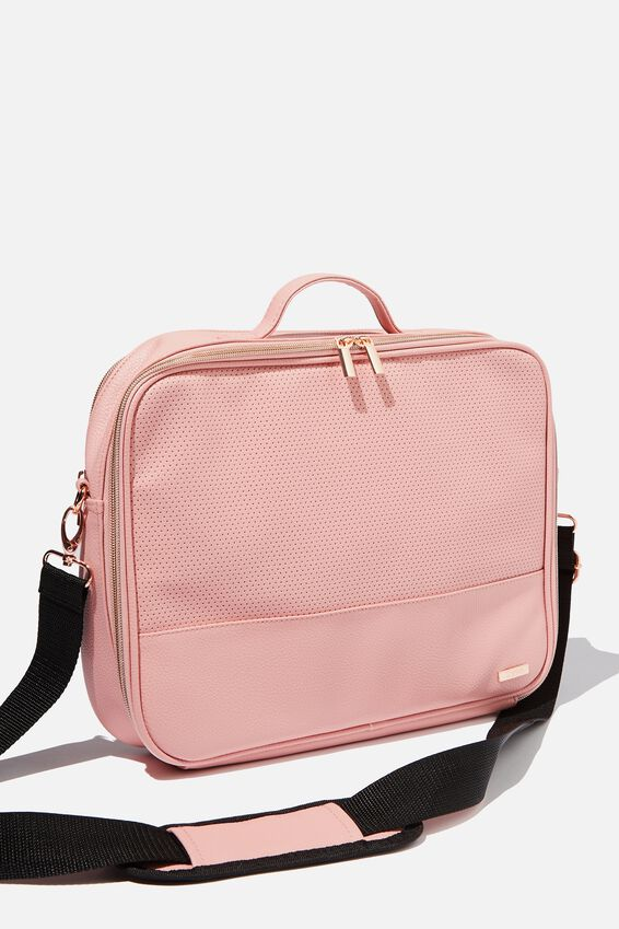 Mobile Laptop Folio, DUSTY PINK PERF