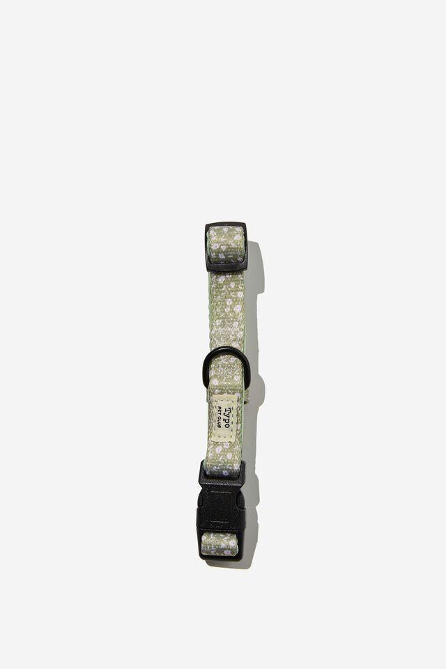 Dog Collar, GUM LEAF MEADOW DITSY