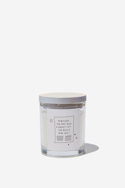 Quote Candle, NEWS FLASH