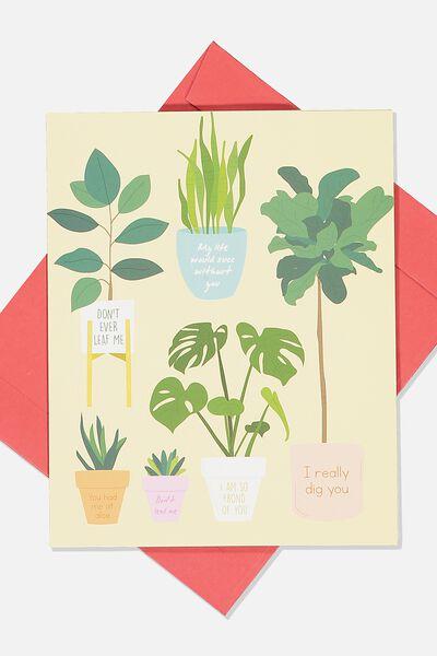 Love Card, DONT LEAF ME PLANTS