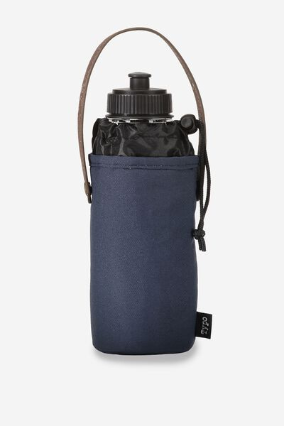 Carry Me Water Bottle, NAVY AND RICH TAN