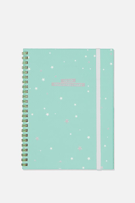 A5 Spinout Notebook Recycled, WHATEVER I WANT