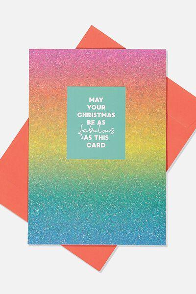 Christmas Card 2019, FABULOUS GLITTER CARD