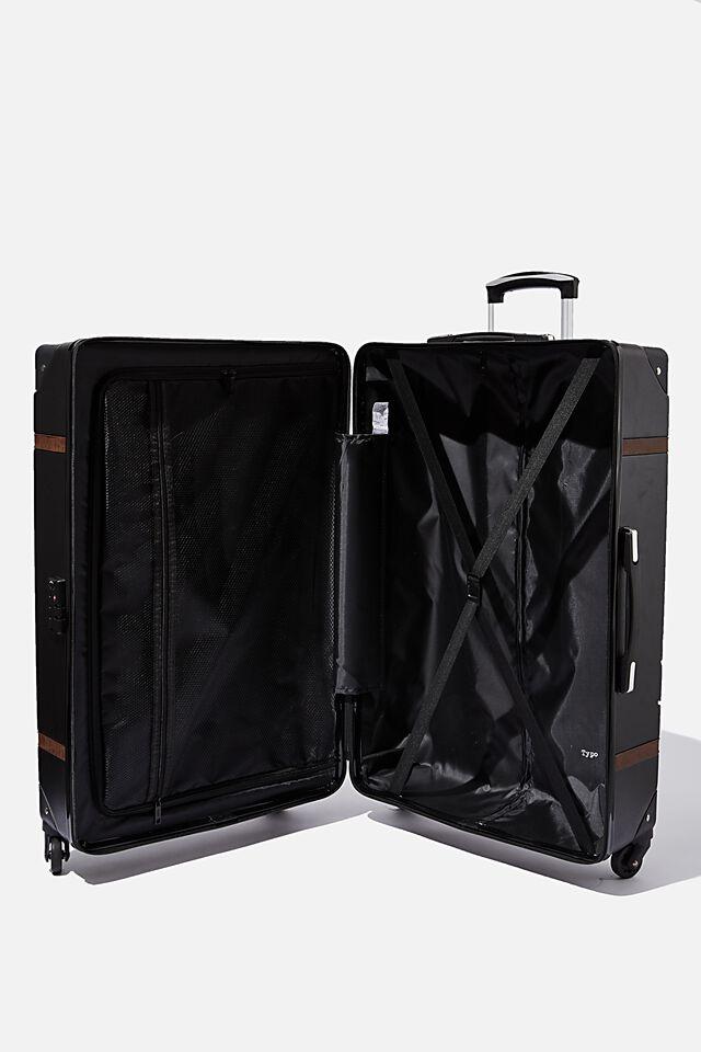 Large Travel Trunk Suitcase, BLACK