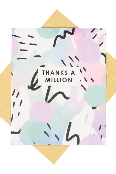 Thank You Card, THANKS A MILLION