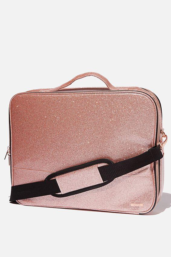 Mobile Laptop Folio 15 Inch, ROSE GOLD GLITTER