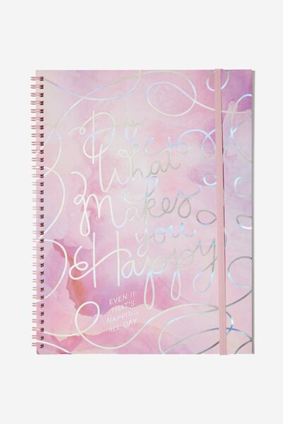 A4 Spinout Notebook - 120 Pages, DO WHAT MAKES YOU HAPPY
