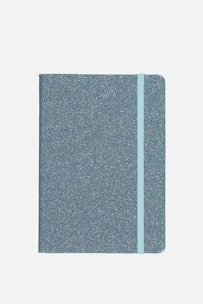 A5 Buffalo Journal, LIGHT BLUE GLITTER
