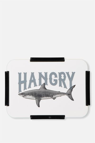 Rectangular Lunch Container, HANGRY SHARK