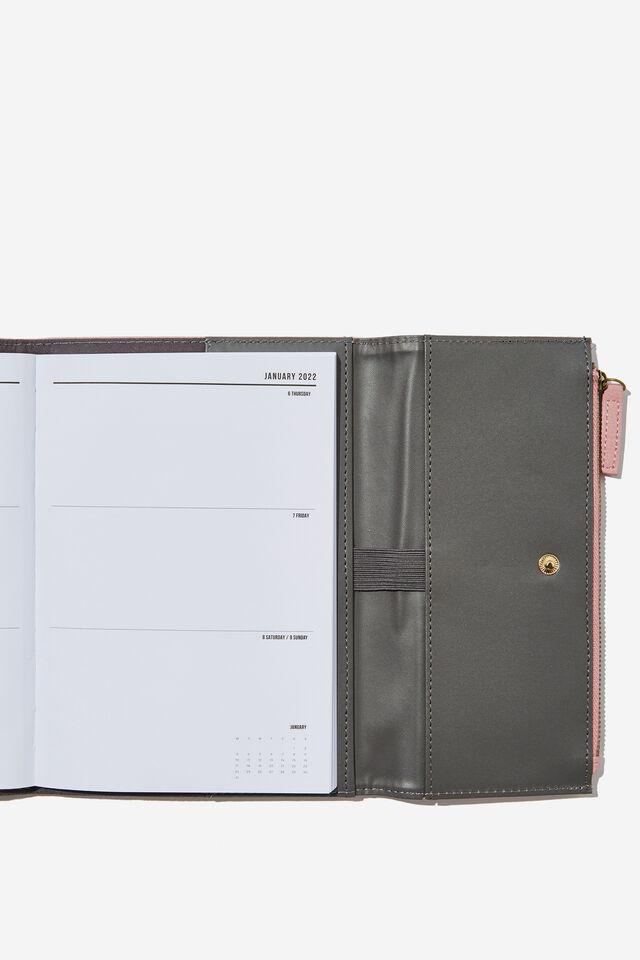 2022 Zip Pocket Diary, DUSTY LILAC