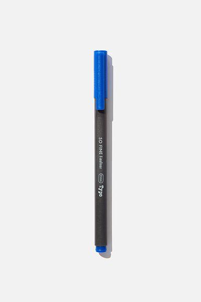 So Fine Fineliner Pen, DARK BLUE