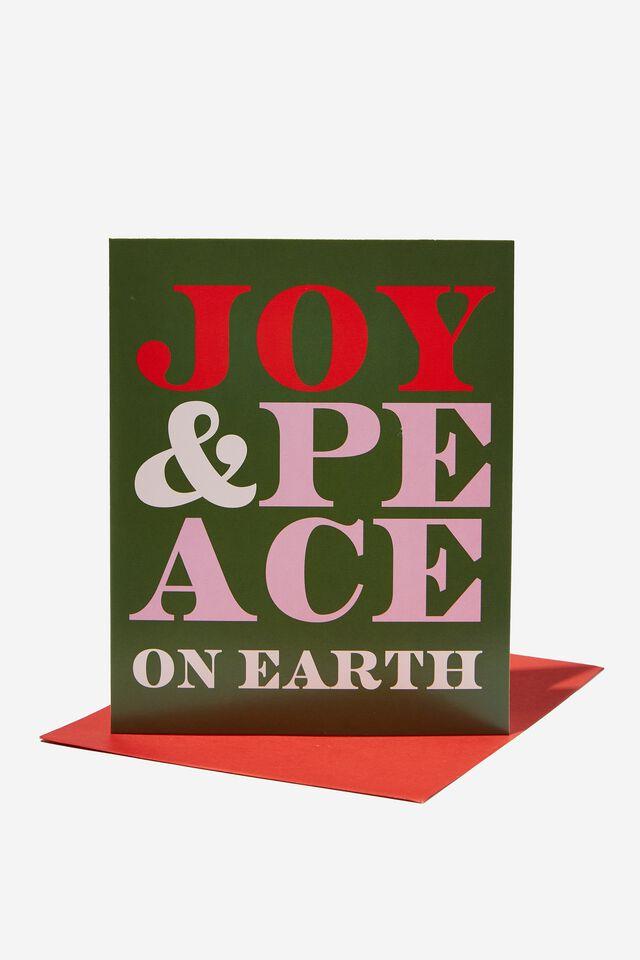 Christmas Card 2021, JOY AND PEACE ON EARTH