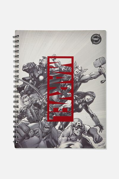 A4 Campus Notebook Recycled, LCN MARVEL MARVEL