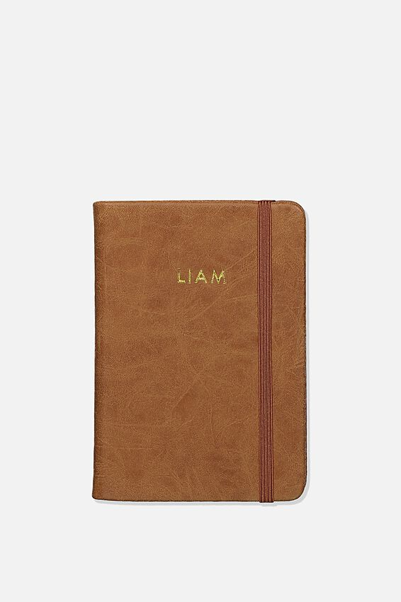 Personalised A6 Buffalo Journal, MID TAN