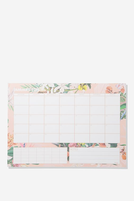 2019 A3 Plan Ahead Planner, BIRDS OF PARADISE