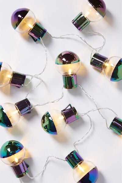 Dipped Light Bulb Lanterns, OIL SLICK